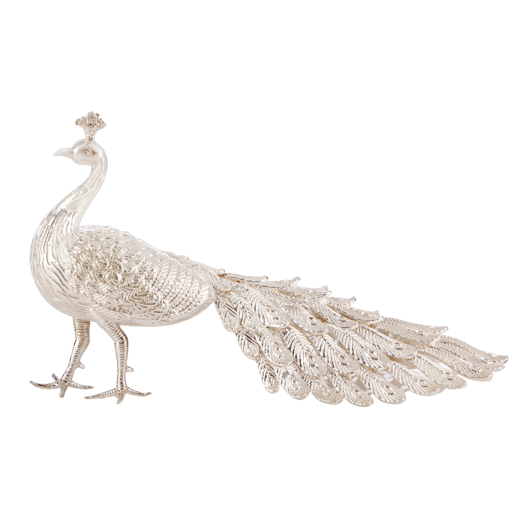 Peacock in Silver by Osasbazaar Main