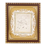 Silver Durga Mata Photo Frame