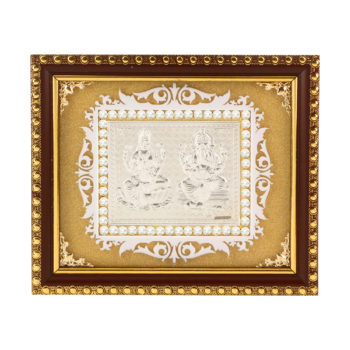 Frame Ganesh ji Laxmi ji in Silver by Osasbazaar Main