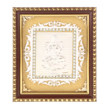 Frame Laxmi ji in Silver by Osasbazaar Main
