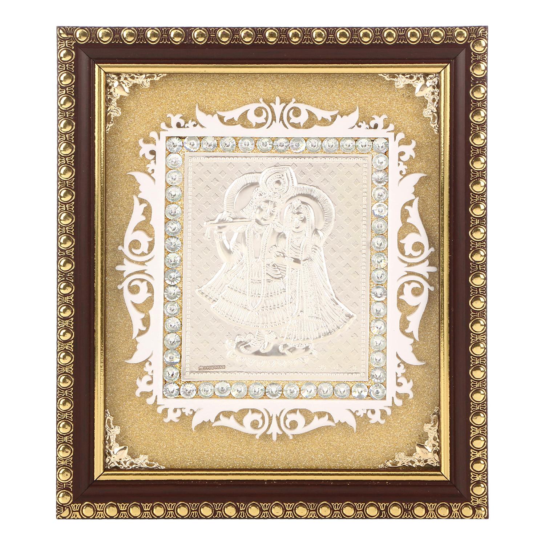 Frame Radha Krishna in Silver by Osasbazaar Main