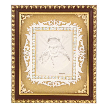 Frame Sai Baba in Silver by Osasbazaar Main