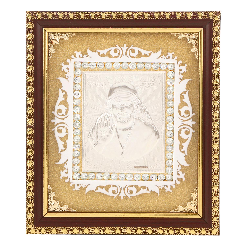 Frame Sai Baba in Silver by Osasbazaar Main