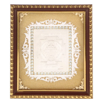 Frame Sri Yantra in Silver by Osasbazaar Main