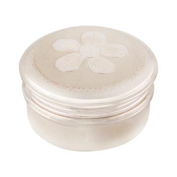 Round Box in Silver Flower by Osasbazaar Main