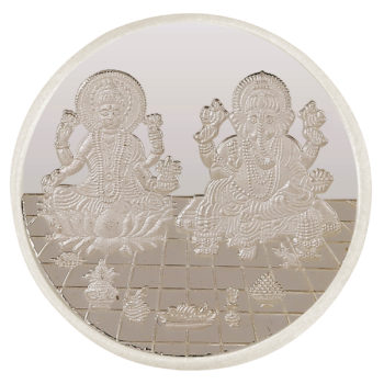 Ganesh Laxmi Coin in Silver 5gms by Osasbazaar Main