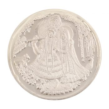 Radha Krishna Silver Coin by Osasbazaar Main