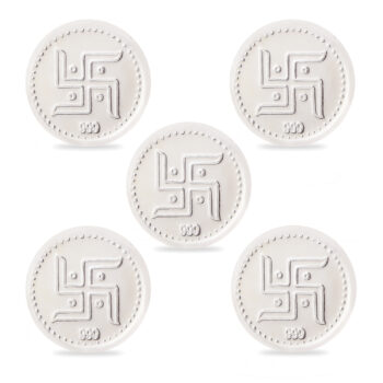 Kalash Swastik Coin 5 pieces in Silver by Osasbazaar Main Image